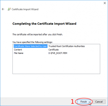 Import certificate in browser - Proxmox VE