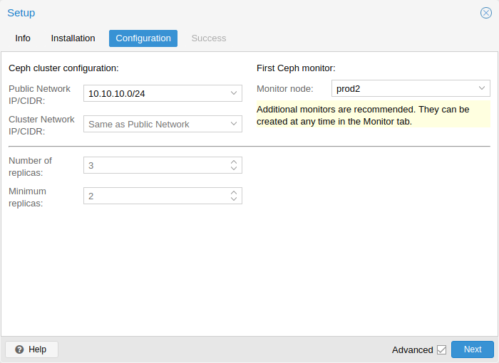Manage Ceph Services on Proxmox VE Nodes