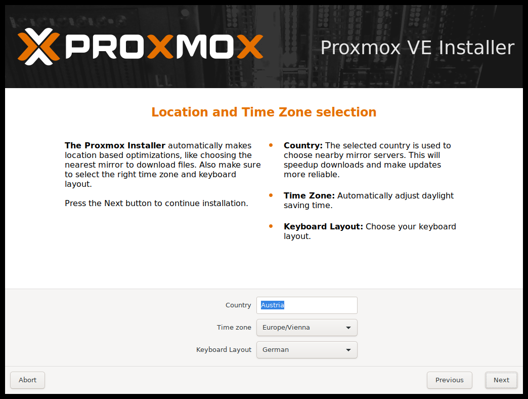 Installation - Proxmox VE